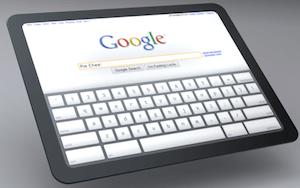 HTC Google Tablet Mockup