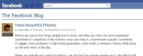 Facebook rolling out new photos features