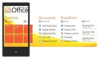 windows phone 7 office hub screen grab