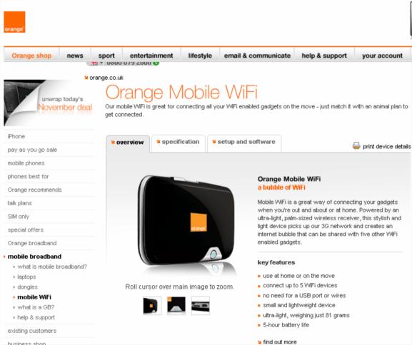 orange launch mobile wifi hotspot