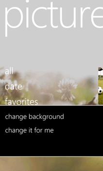 windows phone 7 pictures context sensitive menu