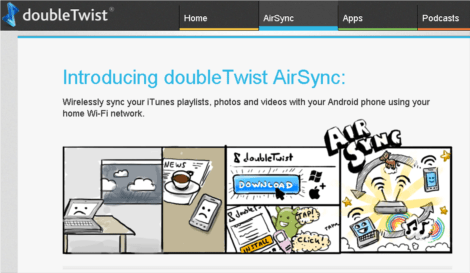 doubletwist brings wireless syncing