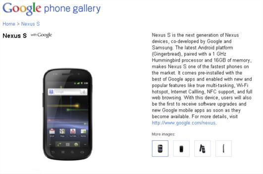 google nexus s announced