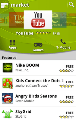 new version android market