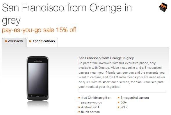 orange san francisco sale 15 percent off
