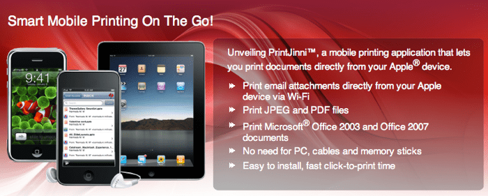 epson print genie app for ipad and iphone