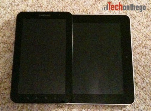 galaxy tab ipad size comparison