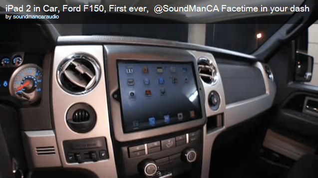 ipad2 dash install ford f150 truck