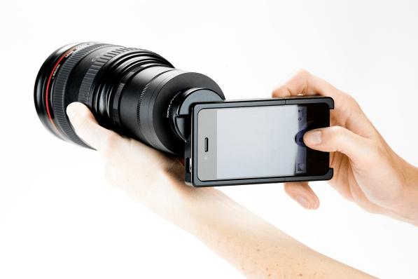 iphone slr lens attachment case for canon or nikon