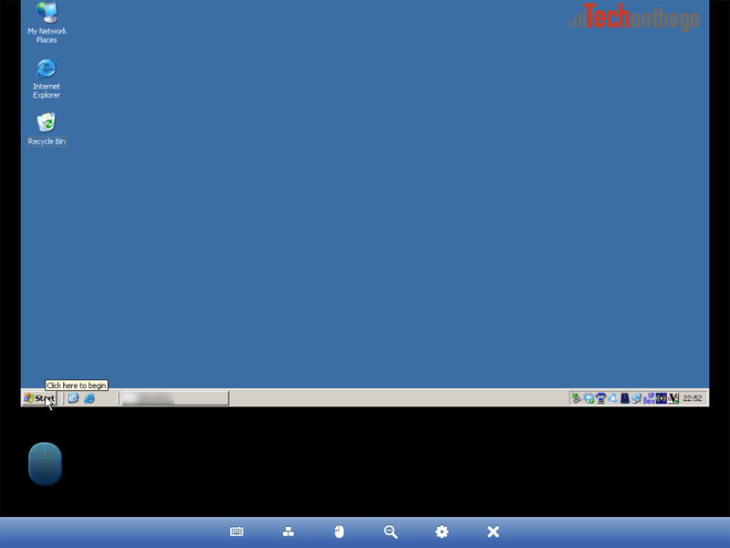 logmein ipad app mouse control lower screen