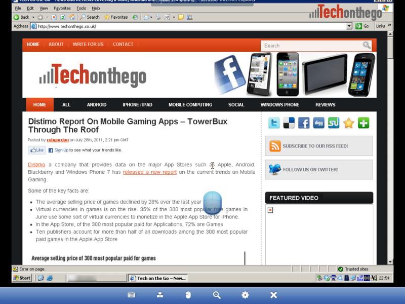 logmein ipad app web browser