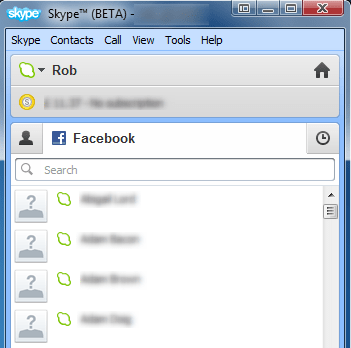 skype 5.5 beta facebook integration friend list