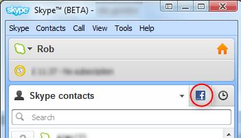 skype 5.5 beta facebook integration