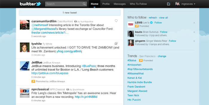 twitter testing out promoted tweets in timeline