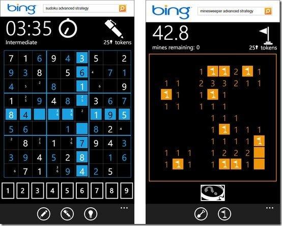 Minesweeper and Sudoku Free Windows Phone Games