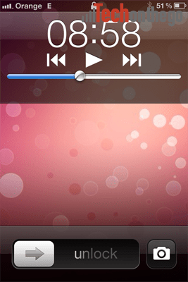 ios5 camera button on lock screen