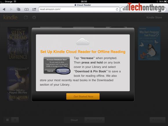 kindle cloud reader web service ipad app