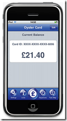 tube map app by mxdata upgraded to include oyster integration