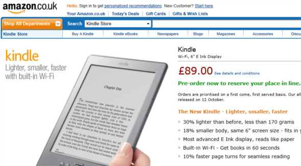 new amazon kindle available to pre-order on amazon uk