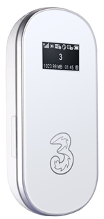 three Huawei E586 mifi available in white