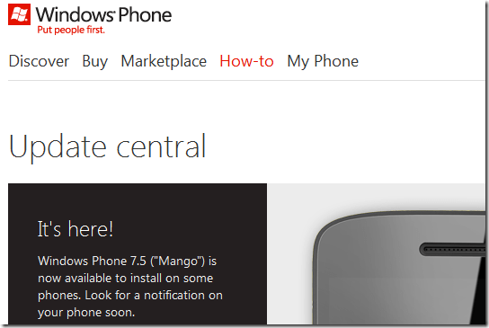 windows phone mango update starts rolling out