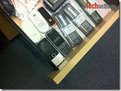 phones in a drawer