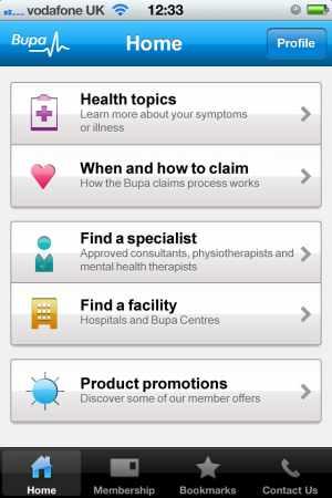 Bupa Health Finder App