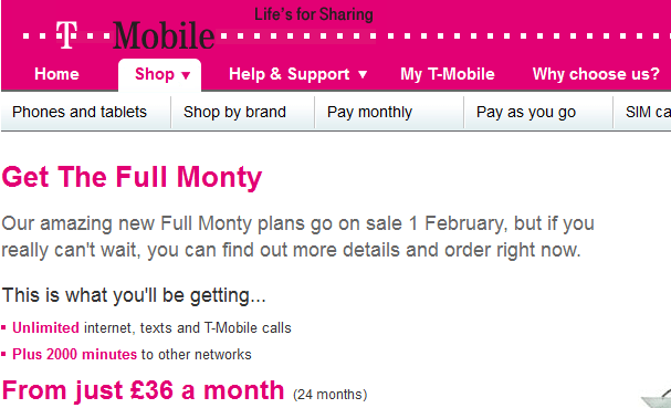 t-mobile introduce the full monty unlimited plan