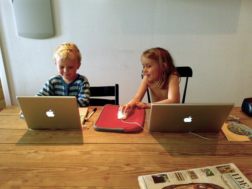 Children using the internet