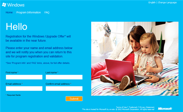 windows8 upgrade offer in the uk