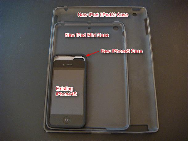 michael rou iphone5 ipadmini and newipad cases overlaid for comparison