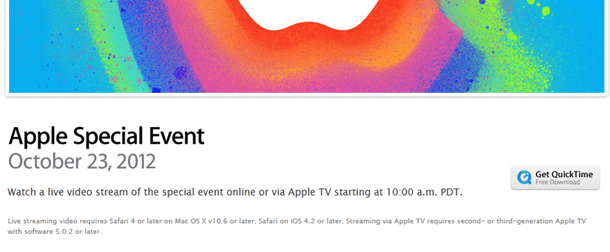 apple streaming oct23rd live event