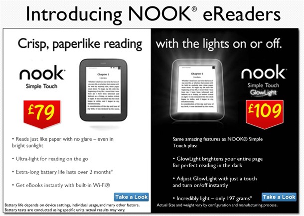 asda selling new nook ereaders