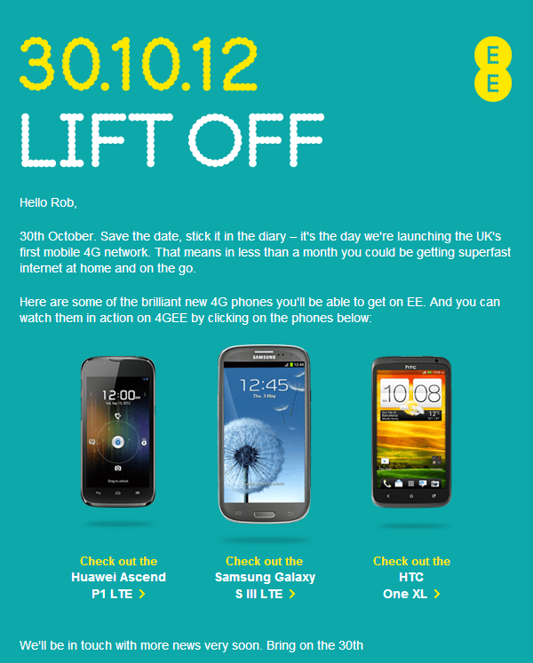 ee anounce 4g network launch in the uk october 30th