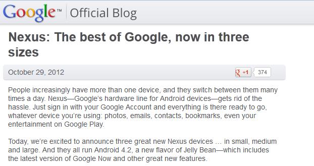 google announce nexus4 and nexus10 devices blog shot