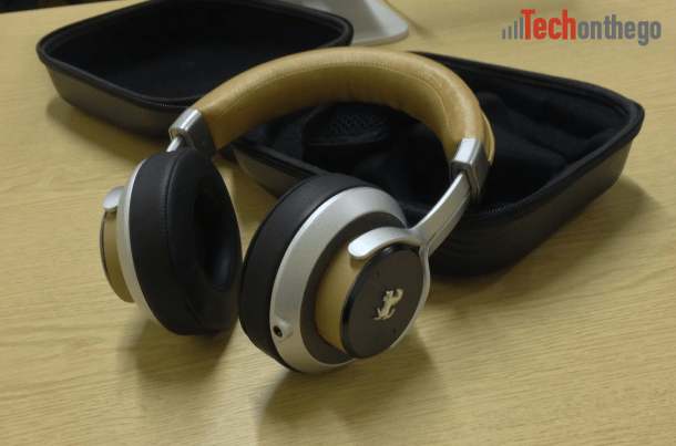 ferrari cavallino t350 headphones - close up