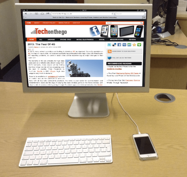 iPhone5 Concept - Desktop Mode