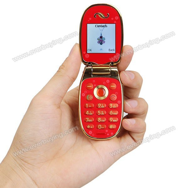 Quad Band Decorative Cell Phone - The Jewel In Your Handbag - hand facing