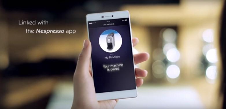 Prodigio blueooth connected nespresso machine - app usage