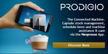 Prodigio blueooth connected nespresso machine - featured
