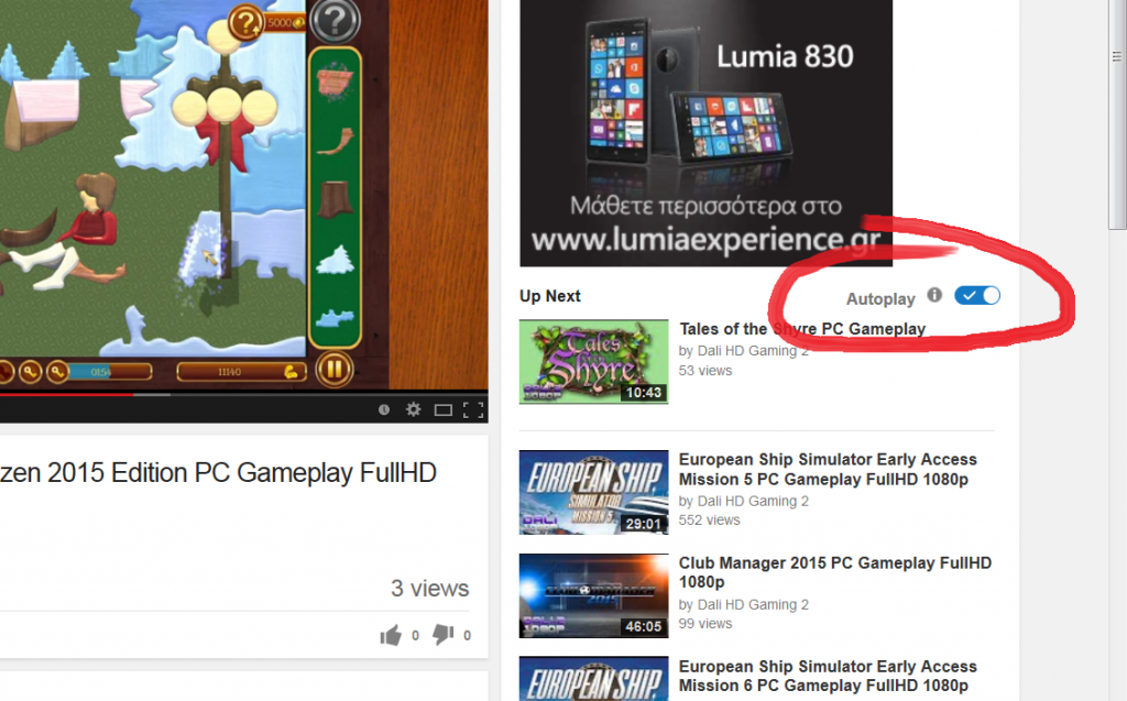 youtube autoplay toggle