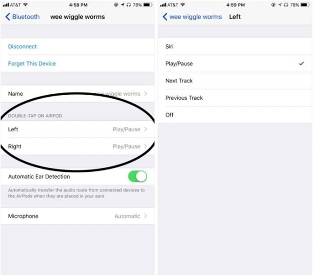 airpods left right configuration in ios11 - announced at wwdc2017
