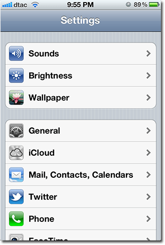 ios1 settings finger input
