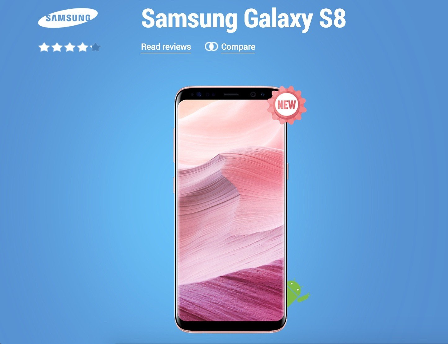 samsung s8 rose gold