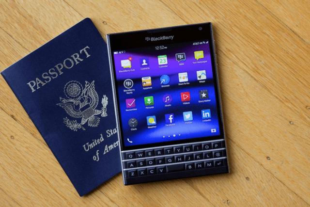 passport and blackberry