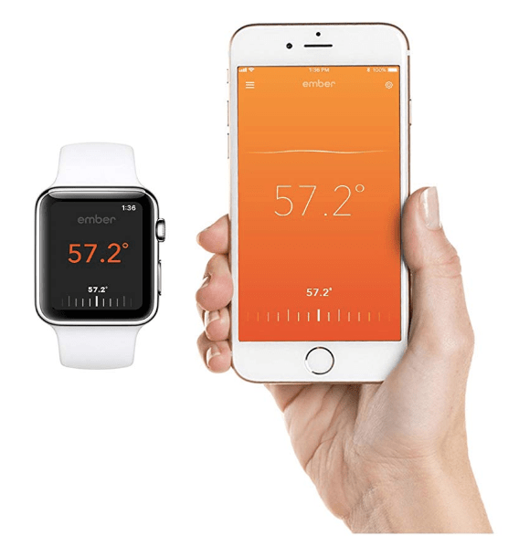 Ember Temperature Control Ceramic Mug Connnects with Apple Health