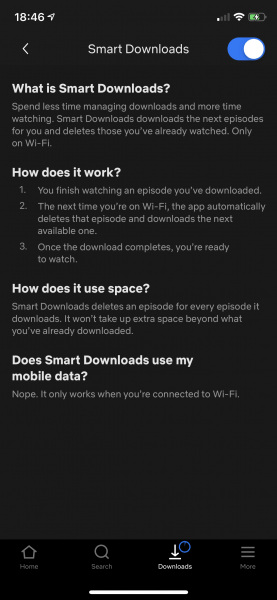 netflix auto download over wifi feature for tv series