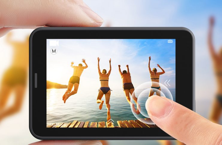AKASO V50 Pro action camera with touchscreen