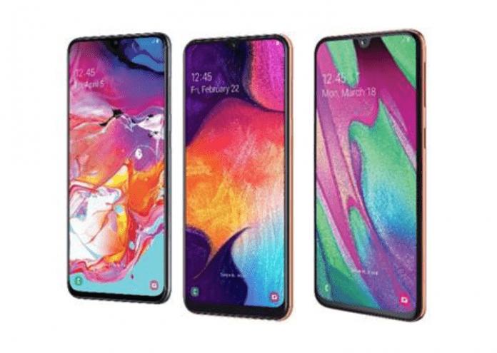Samsung A40, Samsung A50 and Samsung A70 android handsets