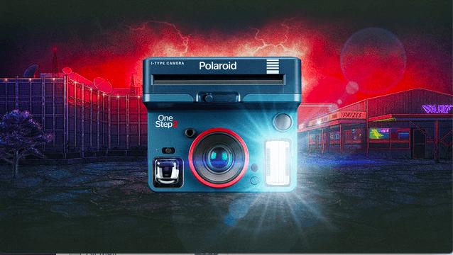 polaroid stranger things upside down camera